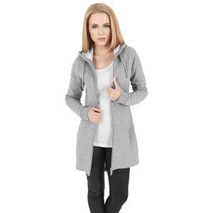 Urban Classics Ladies Sweat Parka TB1075 Grey, Größe:L