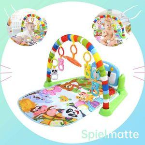 3in1 Baby Krabbeldecke Spielbogen Erlebnisdecke Babyspielmatte Für 0-18M Kinder