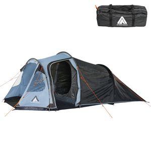 10T Mandiga 4 Arona - Tunnelzelt für 4 Personen, Campingzelt mit großer Schlafkabine, wasserdichtes Familienzelt mit