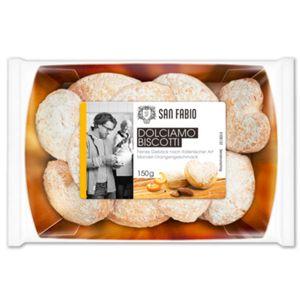 Schulte Dolciamo Biscotti mit Mandel und Orangen in Herzform 150g