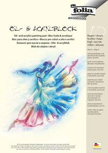 Öl-Acrylmalblock, 290 g/qm, 10 Blatt DIN A3