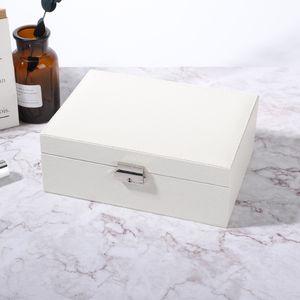 Schmuckkoffer Schmuckkasten Schmuckvitrine Ring Ohrring Aufbewahrungsbox Weiß DE