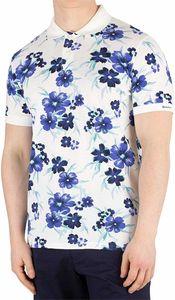 Gant Herren All Over Floral Pique Rugger Poloshirt, Weiß XL