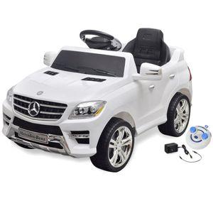 vidaXL Elektroauto Ride-on Mercedes Benz ML350 Weiß 6 V mit Fernbedienung