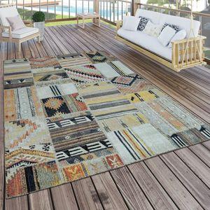 In- & Outdoor Teppich Modern Ethno Muster Terrassen Teppich  Bunt, Grösse:160x220 cm