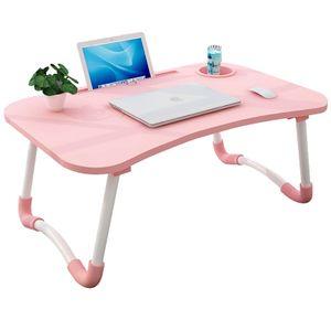 Rosa Metall Schreibtisch Computertisch Laptoptisch Betttisch Klappbarer Notebooktisch Wohnheim Schreibtisch Knietisch 40*60*28cm