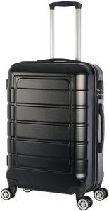 Hartschalenkoffer Trolley 4-Rollen Koffer Reisekoffer / 68 Liter / 201 - Farbe: schwarz