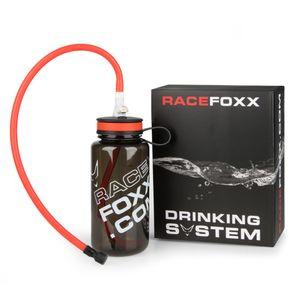 Trink – System mit 2 Schläuchen Trinkflasche Trinkstück Click Anschluß Racefoxx