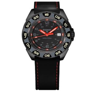 Traser H3 P49 Special Pro Red Alert T100 Tactical Watch Militär Armbanduhr Kautschuk Armband