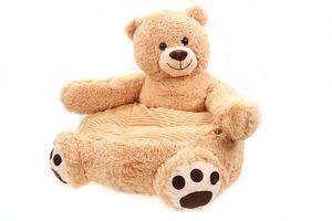 Sessel/Stuhl/Sofa/Sitzsack für Kinder, versch. Tiere, weicher Plüschbezug 50 * 50 * 45cm (Bär)