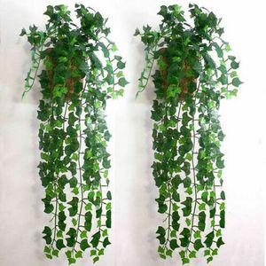 Laub Nachbildung Grünpflanze Efeu Blatt Künstliche Blume Kunststoff Girlande Rebe