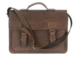 Ruitertassen Aktentasche Leder 2 Fächer (A4 Format) Lehrertasche 38cm Schultasche Businesstasche ranger braun 2140-73