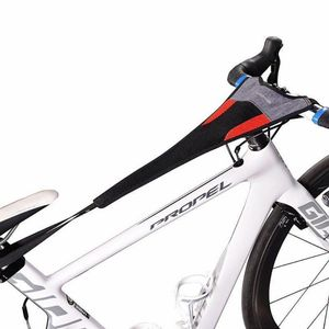 ROCKBROS Schweißfänger für Rollentrainer Radsport Atmungsaktiv ca. 56*23cm schwarz rot
