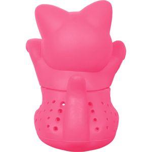 Niedliches Tee-Ei - Katze pink - aus Silikon (BPA-frei) für losen Tee (Tee-Infuser)