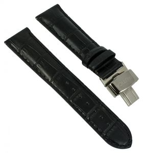 Nautica Armband A16071G Leder schwarz mit Faltschließe