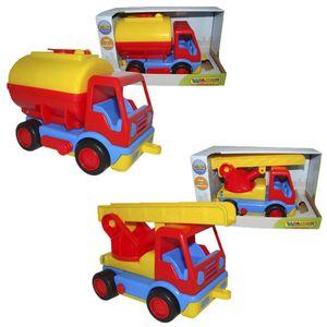 WADER Basics Tankwagen Feuerwehr Kinder Spielzeug Fahrzeug (im Schaukarton), Fahrzeugtyp:Feuerwehr