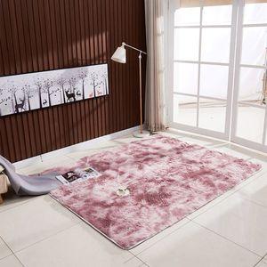Ultra Soft Tie-Dye-Stil Farbverlauf Teppichboden Schlafzimmer Matte Rechteck Form flauschigen Teppich für Wohnzimmer Schlafzimmer Balkon Flur Matte
