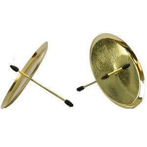4-teilig Kerzenhalter für Adventskranz Ø 60 mm goldfarben - Adventskranzstecker