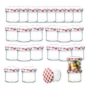24er Set Marmeladenglas 125 ml Sturzglas Einmachglas Einweckglas To 66