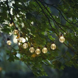 LED Lichterkette PARTAJ - Solar - 10 warmweiße LED - L: 180cm - Lichtsensor - outdoor - klar