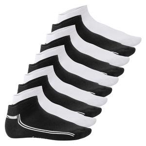 10 Paar SNEAK IT! Sneaker - Schwarz-Weiss mit Streifen 43/46