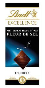 Lindt Excellence Meersalz feinherbe Schokolade mit Fleur de Sel 100g