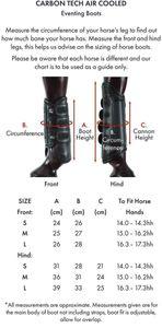 Premier Equine Geländegamaschen Carbon Tech Air Cooled Eventing Boots Front black L