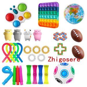 29 Stück / Set Pop It! Fidget Sensory Toy Autismus Stressabbau Spielzeug - Quadrat