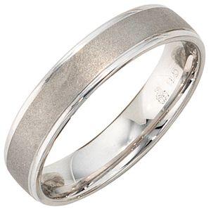 Ring Partnerring aus echtem 925 Silber teilmattiert schlicht Unisex, Ringgröße:Innenumfang 68mm  Ø21.6mm