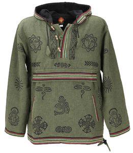 Goa Kapuzenshirt, Baja Hoody - Grün, Herren, Baumwolle, Größe: XL