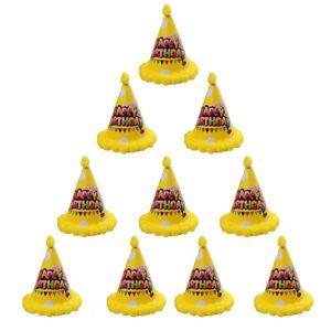 10 Stk Party Papphut Partyhüte Papier Hut Kegel Hüte Fest Feier Fasching Gelb