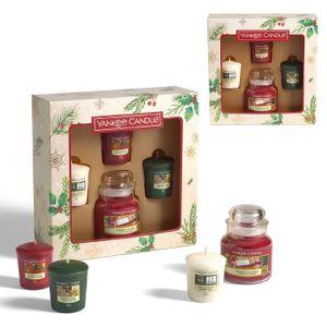 Yankee Candle Geschenkset Kleine Jar Kerze 104 g & 3 Votivkerzen Duftkerzen