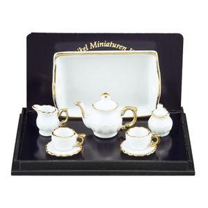"001.348/6 - Teeset Baronesse \""Weiß/Goldrand\"", Miniatur"