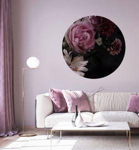 MyMaxxi - Premium Vlies Fototapete Rosen Tapete, Wand Dekoration, Blumen, Strauß, Flower, Mehrfarbig - Ø 140 cm, 2 Teile  Bildtapete XXL Landschaft Bild Natur