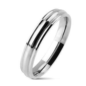 viva-adorno Gr. 67 (21,3 mm Ø) Damenring Herrenring Verlobungsring Freundschaftsring Edelstahl Silber schmal glänzend RS56,