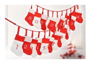 2x Adventskalender Weihnachtskalender Weihnachten selbst Befüllen Stiefel DIY