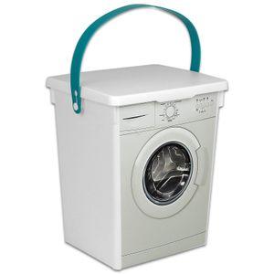Waschpulver Box 5L Waschmittelbox Kunststoff Waschmittelbehälter für Pulver Waschmitteldose