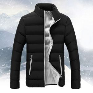 Männer Winter Warm Slim Fit Dicker Bubble Coat Freizeitjacke Oberbekleidung Größe:XL,Farbe:Grau