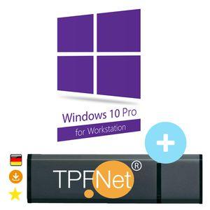 Microsoft® Windows 10 Pro Workstation 32 bit & 64 bit - Original Aktivierungsschlüssel mit bootfähigen USB Stick von - TPFNet®