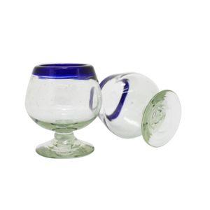 Cognacglas 2er Set, Mundgeblasenes Glas aus Mexiko