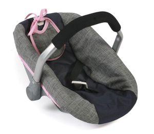 Puppen-Autositz, melange navy-grau