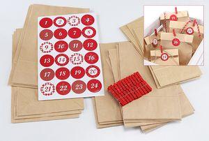 Adventskalender selbermachen DIY Weihnachtskalender selbst Befüllen Advent