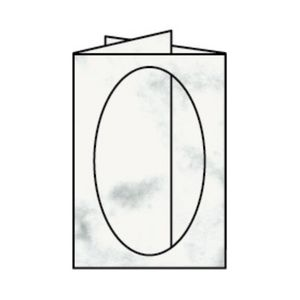 Rössler Papier - - Paperado-Karte Ft.B6 PP-oval, Grau Marmora - Liefermenge: 25 Stück