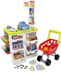 Supermarkt Kinder Laden Zubehör Einkaufswagen Licht Sound Scanner Spielzeug Kasse