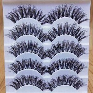 5 Paare bilden handgemachte natürliche lange Volumen falsche Wimpern Wimpern-Verlängerungen ALCYONEUS1