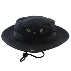 Männer Jagd Hut Mütze Outdoor weiten Eimer Uni Angeln schwarz Eimer Hut