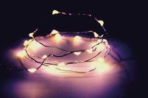 LED Batterie-Lichterkette AQUA - 30 x warmweiße Tropfen-LED - 150cm - Unterwasserbetrieb möglich