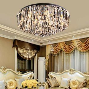 Kronleuchter Kristall Deckenleuchte LED Hängelampe Modern Rund Deckenlampe Wohnzimmer Beleuchtung Pendelleuchte Lüster E14
