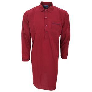 Herren Nachthemd, langärmlig N950 (Medium) (Burgunder)