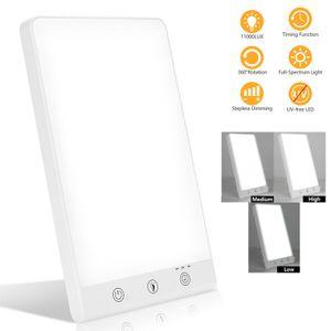 EINFEBEN Tageslichtlampe 11000 Lux 16w Dimmbare LED , Timer und Speicherfunktion, simuliertes Tageslicht